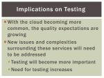 implications on testing