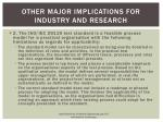 other major implications for industry and research6