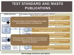 test standard and masto publications