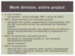 work division entire project