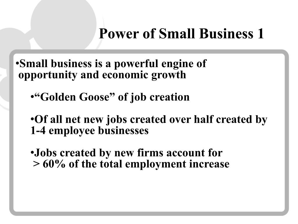 Power of Small Business 1