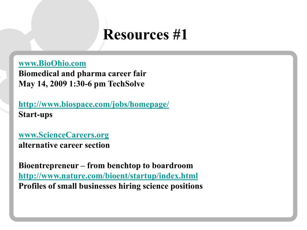 Resources #1
