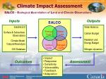 climate impact assessment