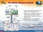 the water balance module
