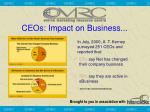 ceos impact on business