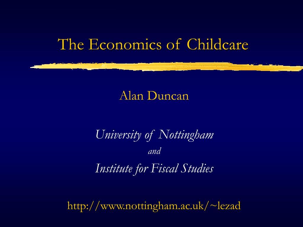 the economics of childcare l.