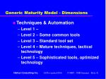 generic maturity model dimensions41