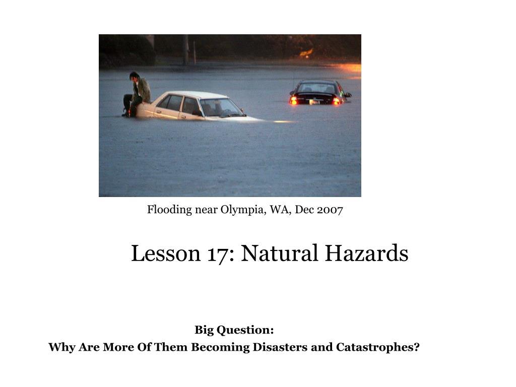 lesson 17 natural hazards l.