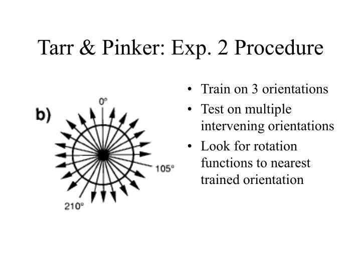 Tarr & Pinker: Exp. 2 Procedure