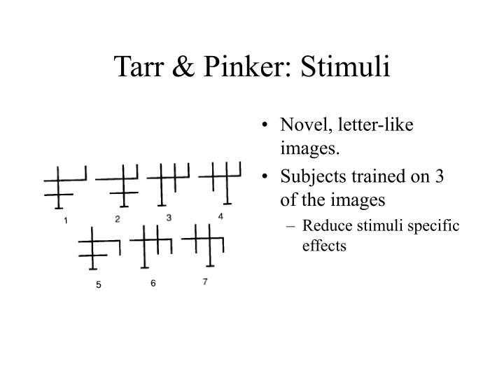 Tarr & Pinker: Stimuli
