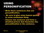 using personification
