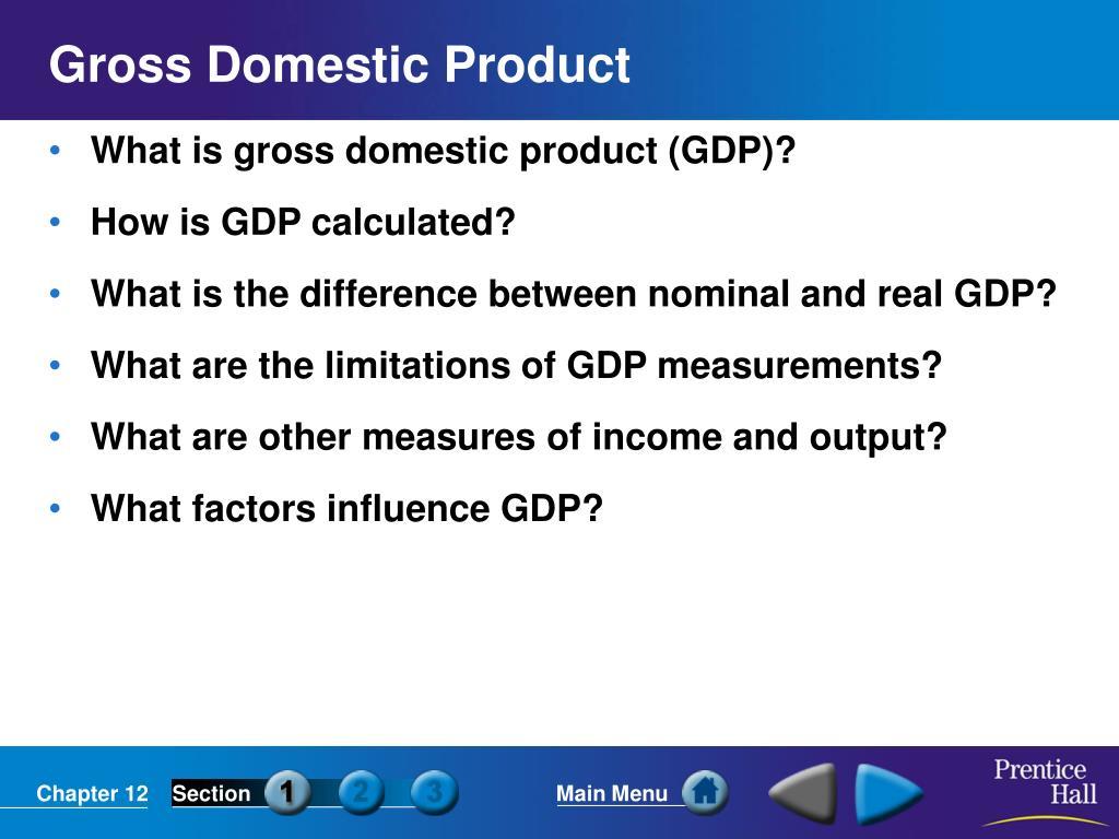 gross domestic product l.