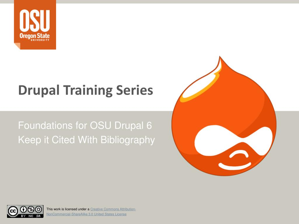 drupal training series l.