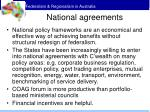 national agreements