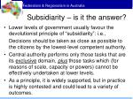 subsidiarity is it the answer
