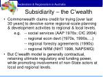 subsidiarity the c wealth