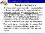 two tier federalism