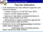 two tier federalism15