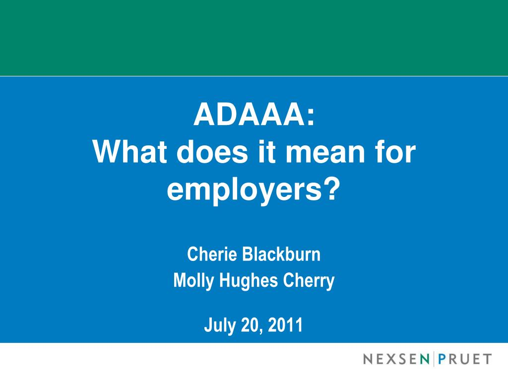adaaa what does it mean for employers l.