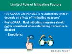 limited role of mitigating factors