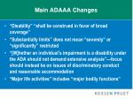 main adaaa changes