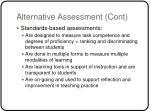 alternative assessment cont