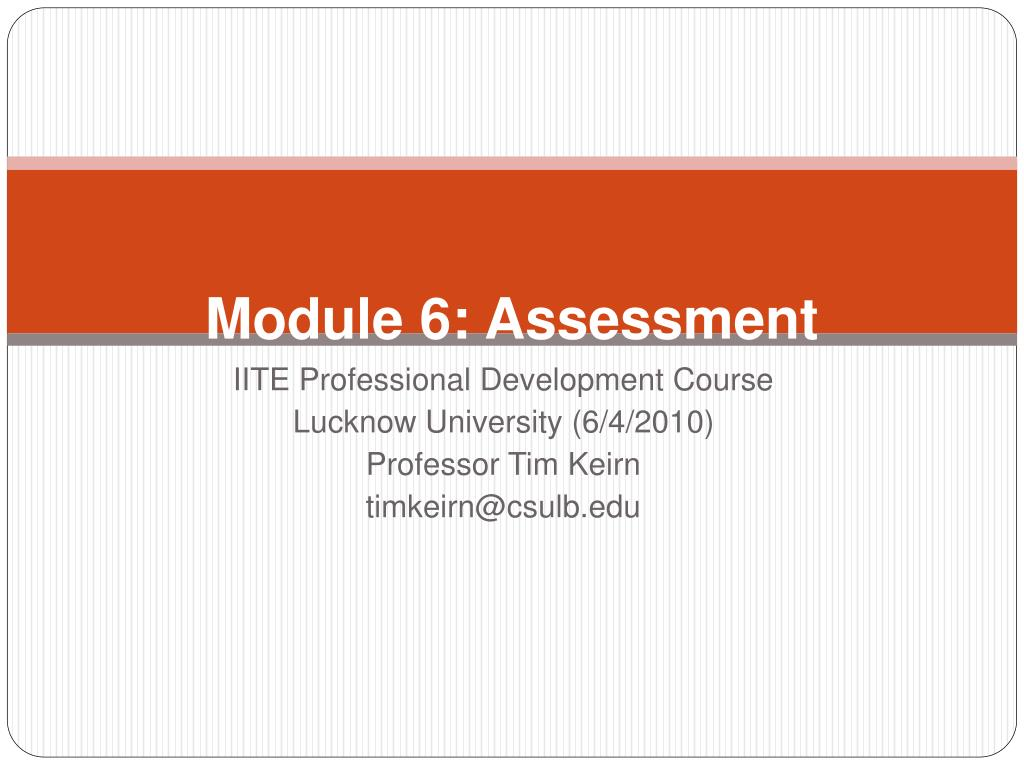 module 6 assessment l.