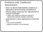 problems with traditional assessment
