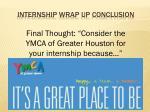 internship wrap up conclusion