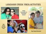 langham creek ymca activities