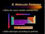 b molecular formulas