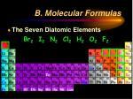 b molecular formulas7