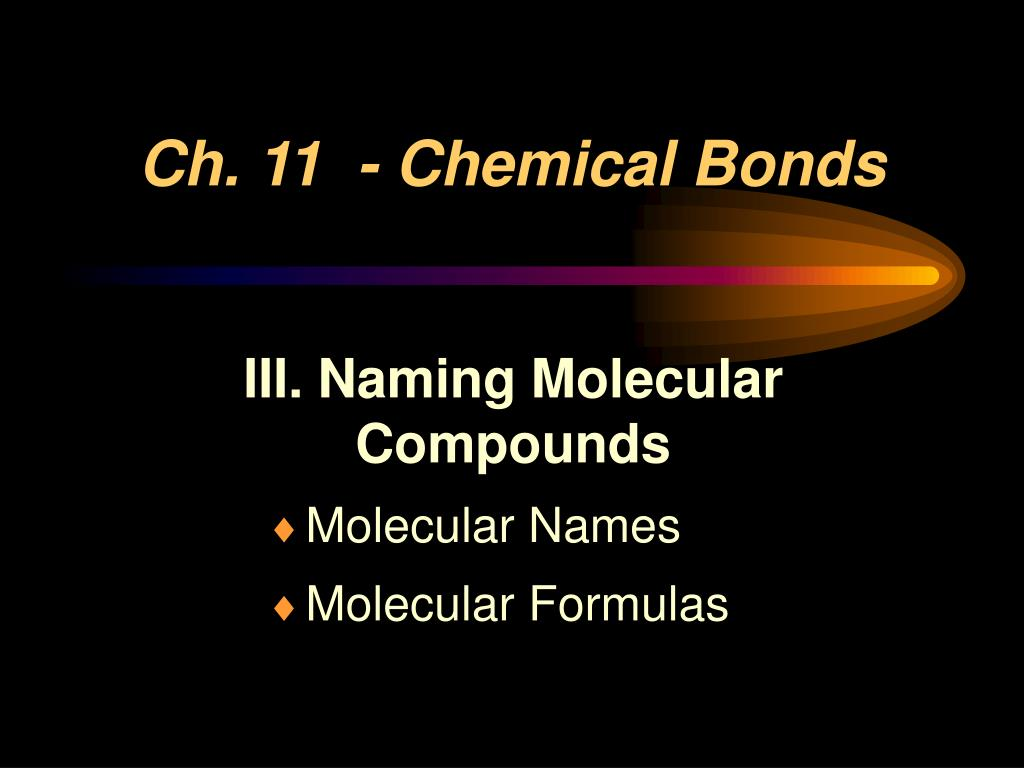 ch 11 chemical bonds l.