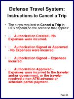 defense travel system instructions to cancel a trip