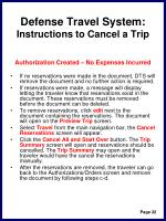 defense travel system instructions to cancel a trip25
