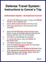 defense travel system instructions to cancel a trip26