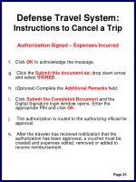 defense travel system instructions to cancel a trip28