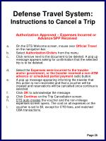 defense travel system instructions to cancel a trip29