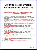 defense travel system instructions to cancel a trip30