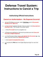 defense travel system instructions to cancel a trip31