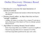 outlier discovery distance based approach
