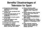 benefits disadvantages of television for sport