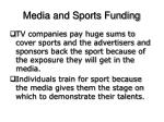 media and sports funding14