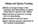 media and sports funding15