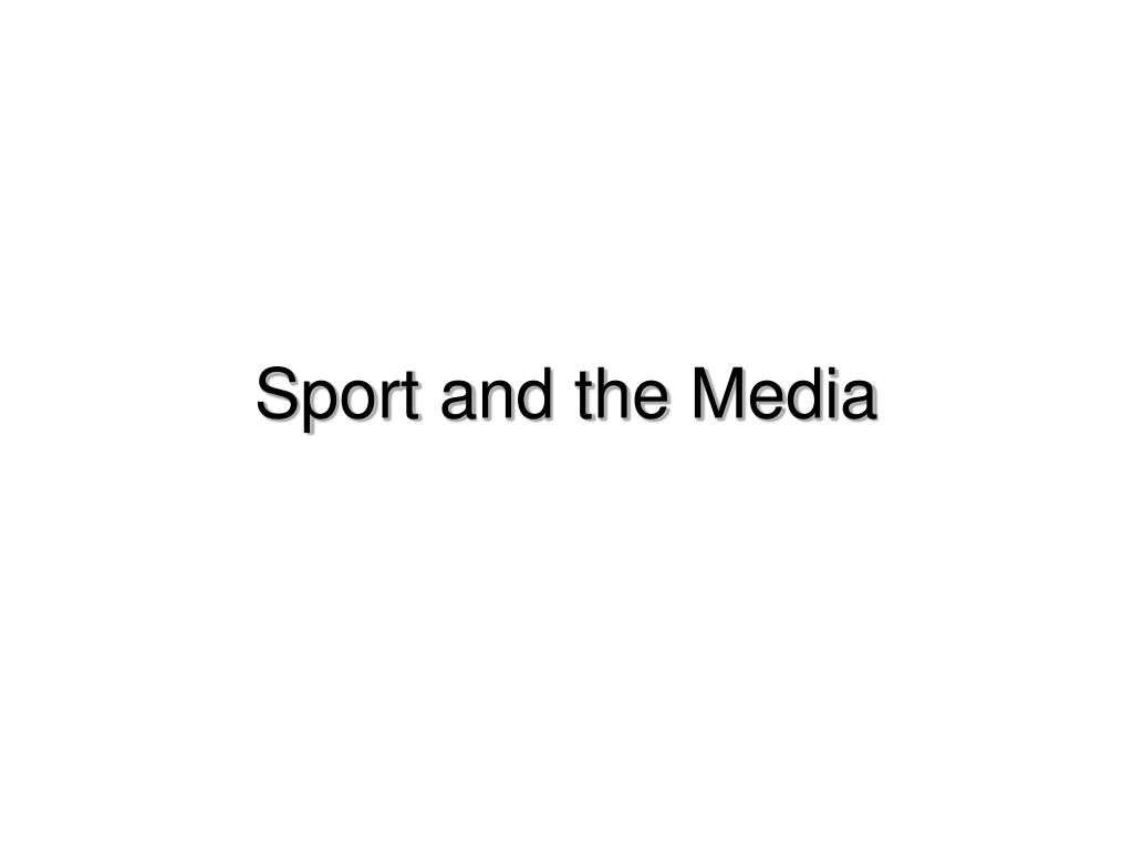 sport and the media l.