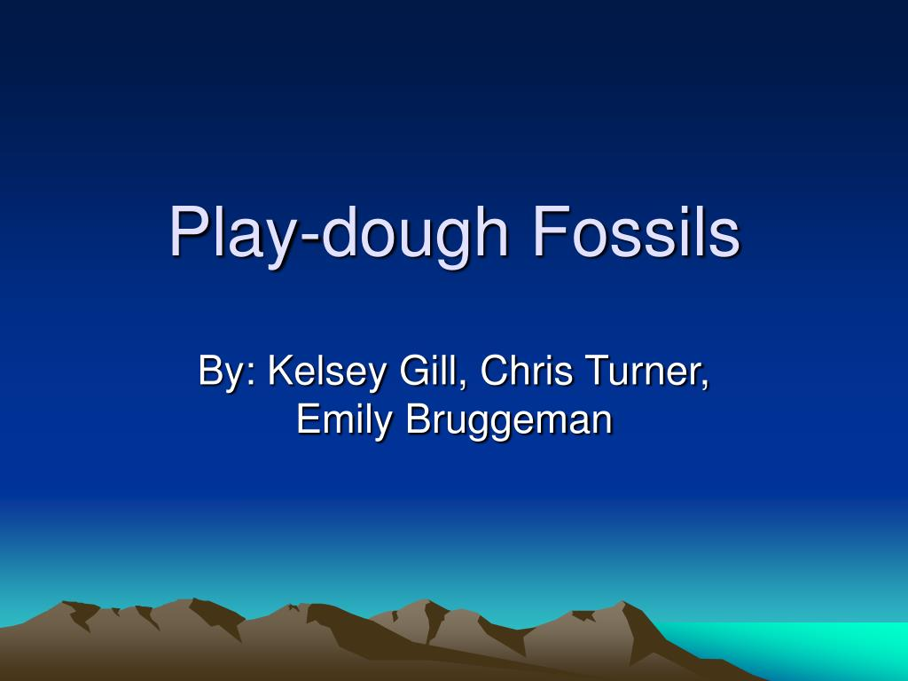 play dough fossils l.