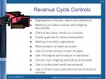 revenue cycle controls