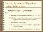 solving systems of equations using substitution10