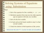 solving systems of equations using substitution4
