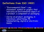 definitions from iso 14021